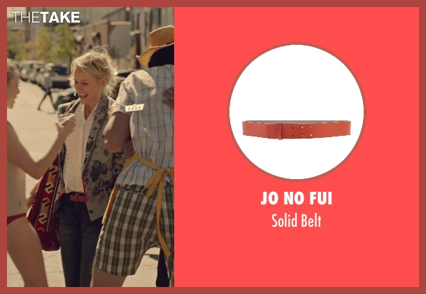 Jo No Fui red belt from While We're Young seen with Naomi Watts (Cornelia)