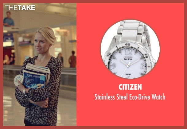 Citizen silver watch from While We're Young seen with Naomi Watts (Cornelia)
