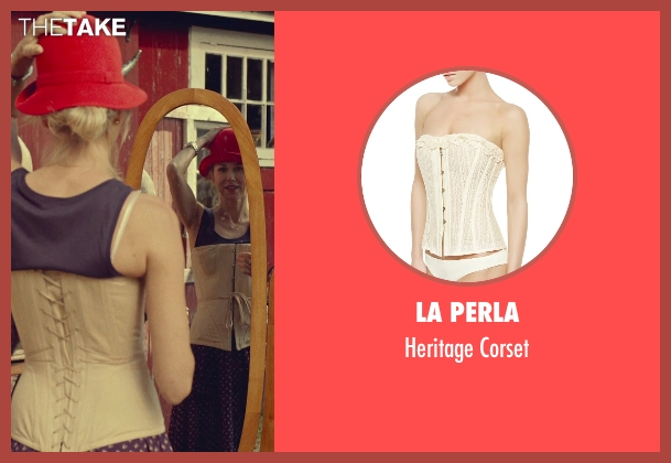 La Perla white corset from While We're Young seen with Naomi Watts (Cornelia)