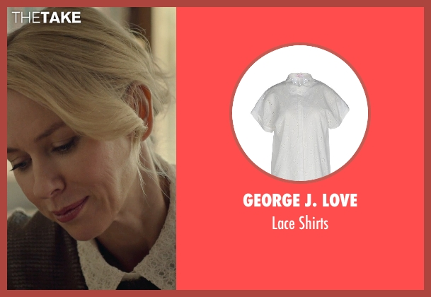 George J. Love white shirts from While We're Young seen with Naomi Watts (Cornelia)