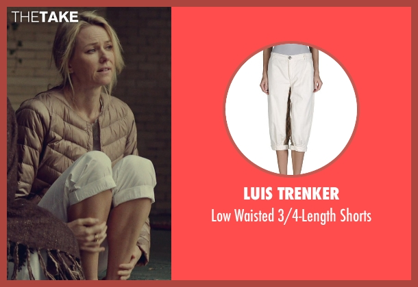 Luis Trenker white shorts from While We're Young seen with Naomi Watts (Cornelia)