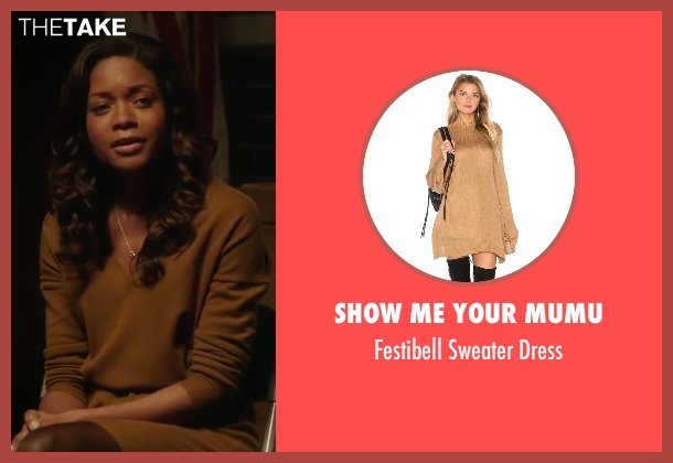 Show Me Your Mumu brown dress from Collateral Beauty seen with Naomie Harris (Madeleine)