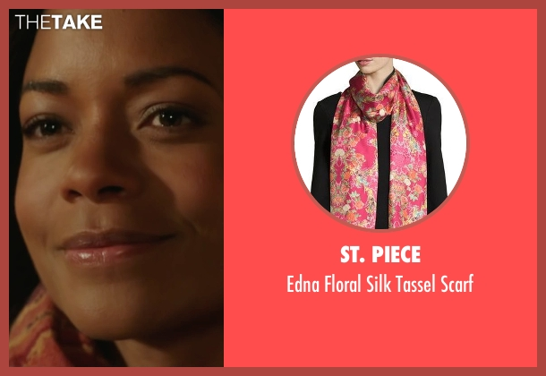 St. Piece  pink scarf from Collateral Beauty seen with Naomie Harris (Madeleine)