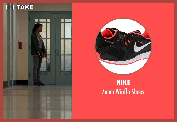 Nike black shoes from Southpaw seen with Naomie Harris (Angela Rivera)