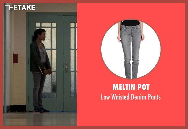 Meltin Pot gray pants from Southpaw seen with Naomie Harris (Angela Rivera)