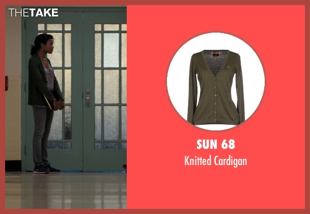 Sun 68 green cardigan from Southpaw seen with Naomie Harris (Angela Rivera)