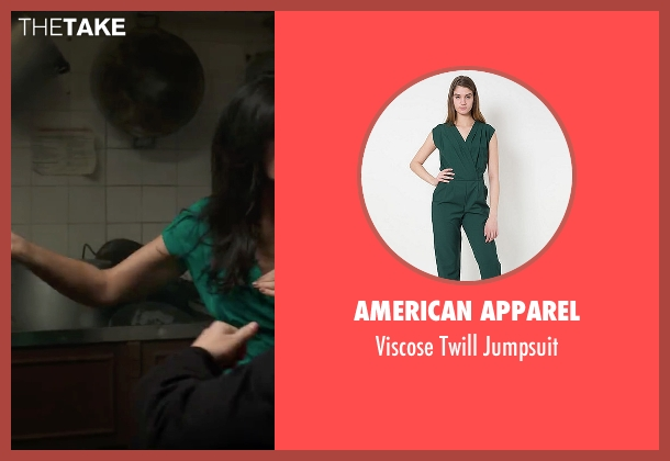 American Apparel green jumpsuit from Spy seen with Nargis Fakhri (Unknown Character)