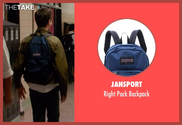 Jansport blue backpack from Ashby seen with Nat Wolff (Ed Wallis)