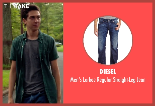 Diesel blue jean from Ashby seen with Nat Wolff (Ed Wallis)