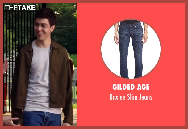 Gilded Age blue jeans from Ashby seen with Nat Wolff (Ed Wallis)