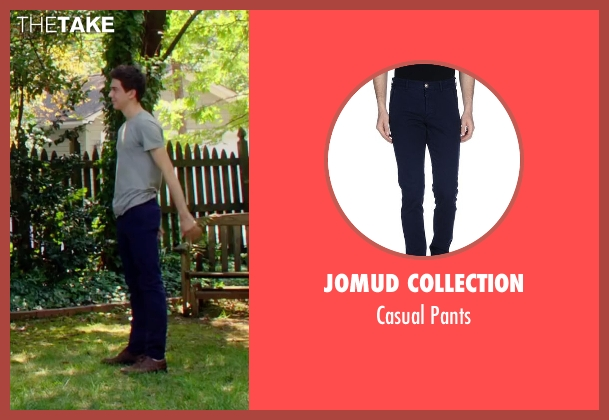 Jomud Collection blue pants from Ashby seen with Nat Wolff (Ed Wallis)