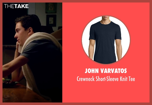 John Varvatos blue tee from Ashby seen with Nat Wolff (Ed Wallis)