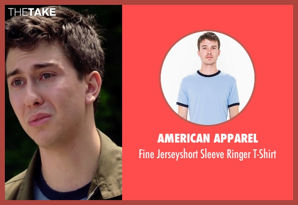 American Apparel blue t-shirt from Ashby seen with Nat Wolff (Ed Wallis)