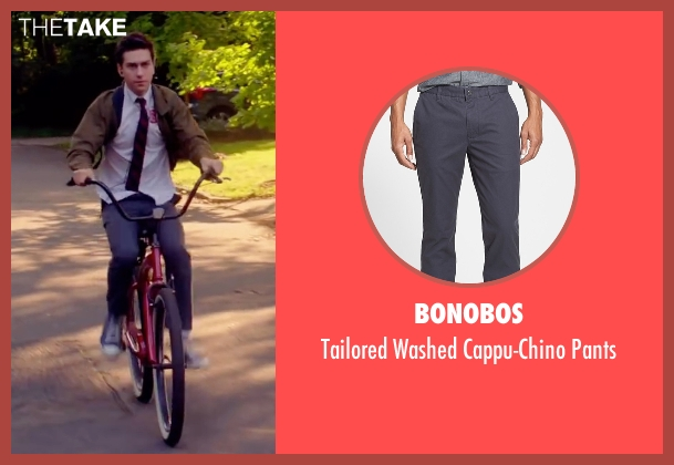 Bonobos gray pants from Ashby seen with Nat Wolff (Ed Wallis)