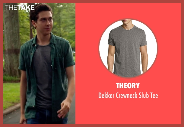 Theory gray tee from Ashby seen with Nat Wolff (Ed Wallis)