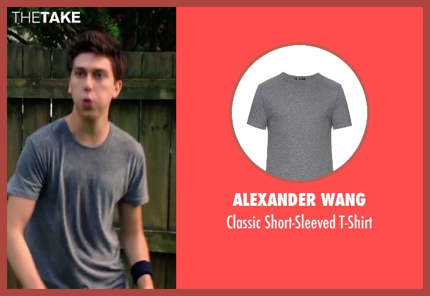Alexander Wang gray t-shirt from Ashby seen with Nat Wolff (Ed Wallis)