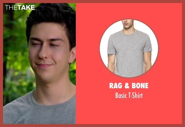 Rag & Bone gray t-shirt from Ashby seen with Nat Wolff (Ed Wallis)