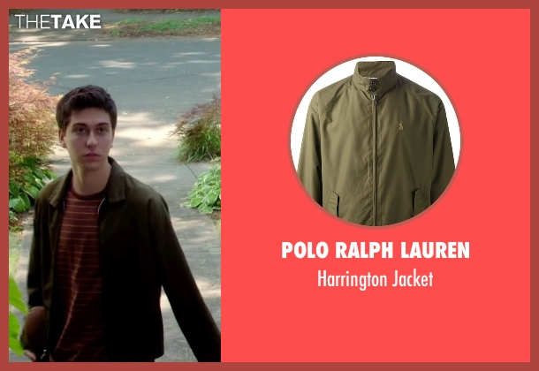 Polo Ralph Lauren green jacket from Ashby seen with Nat Wolff (Ed Wallis)