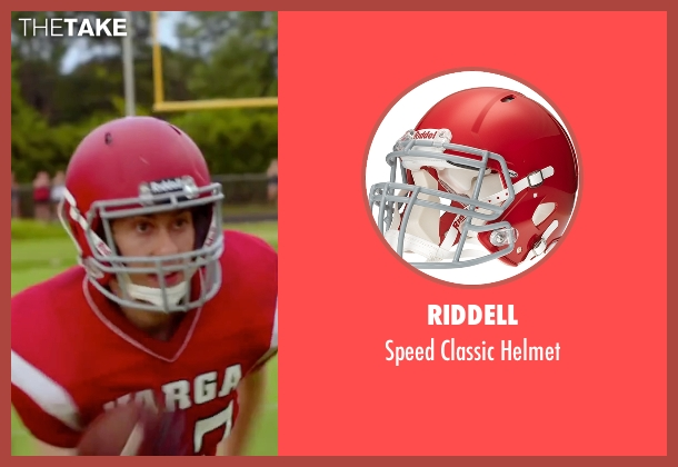Riddell helmet from Ashby seen with Nat Wolff (Ed Wallis)