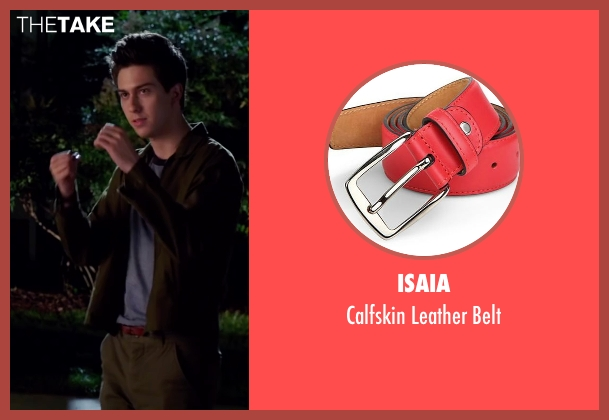 Isaia red belt from Ashby seen with Nat Wolff (Ed Wallis)