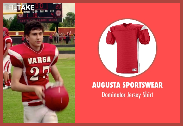Augusta Sportswear red shirt from Ashby seen with Nat Wolff (Ed Wallis)