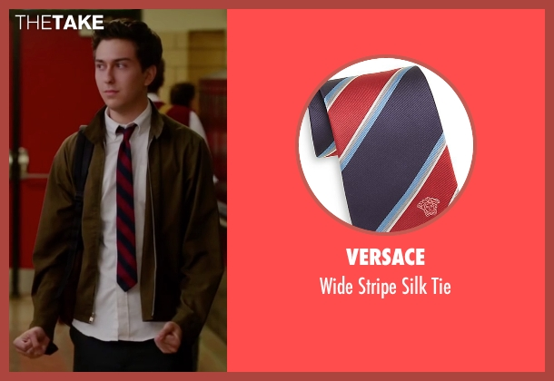 Versace red tie from Ashby seen with Nat Wolff (Ed Wallis)