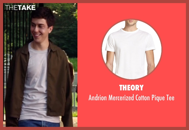 Theory white tee from Ashby seen with Nat Wolff (Ed Wallis)