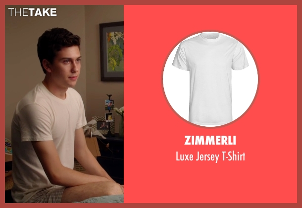Zimmerli white t-shirt from Ashby seen with Nat Wolff (Ed Wallis)