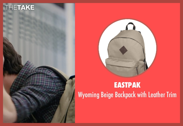 Eastpak beige trim from Paper Towns seen with Nat Wolff (Quentin Jacobsen)