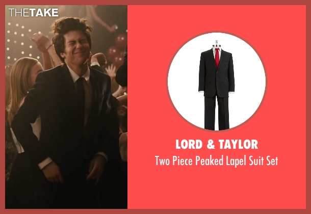 Lord & Taylor black set from Paper Towns seen with Nat Wolff (Quentin Jacobsen)