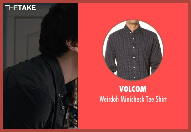 Volcom black shirt from Paper Towns seen with Nat Wolff (Quentin Jacobsen)