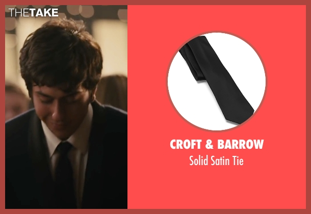 Croft & Barrow black tie from Paper Towns seen with Nat Wolff (Quentin Jacobsen)