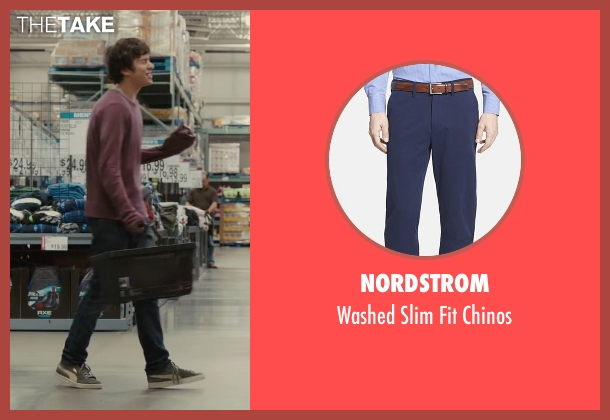 Nordstrom blue chinos from Paper Towns seen with Nat Wolff (Quentin Jacobsen)