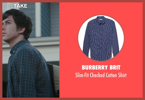 Burberry Brit blue shirt from Paper Towns seen with Nat Wolff (Quentin Jacobsen)