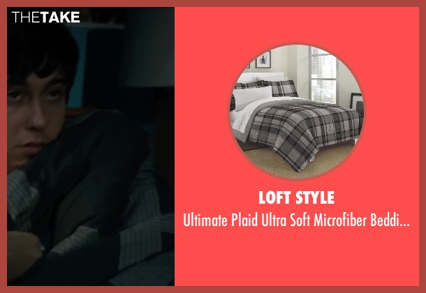 Loft Style comforter from Paper Towns seen with Nat Wolff (Quentin Jacobsen)