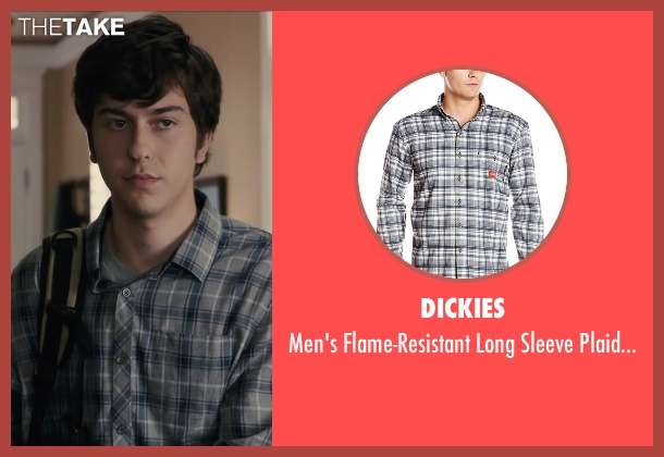 Dickies gray shirt from Paper Towns seen with Nat Wolff (Quentin Jacobsen)