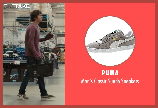 Puma gray sneakers from Paper Towns seen with Nat Wolff (Quentin Jacobsen)