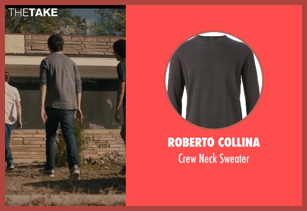 Roberto Collina gray sweater from Paper Towns seen with Nat Wolff (Quentin Jacobsen)