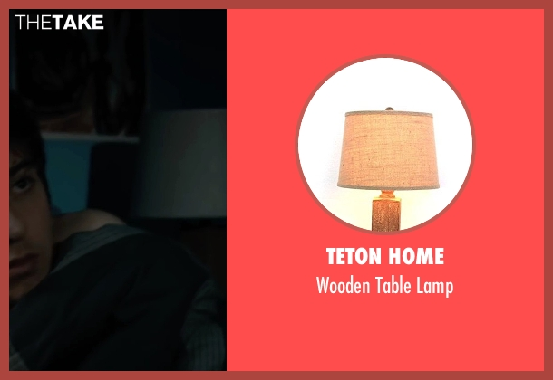 Teton Home lamp from Paper Towns seen with Nat Wolff (Quentin Jacobsen)