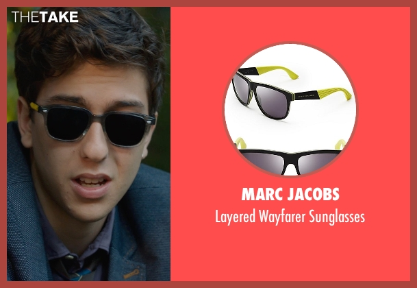 MARC JACOBS black sunglasses from The Fault In Our Stars seen with Nat Wolff (Isaac)