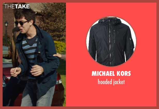 MICHAEL KORS blue jacket from The Fault In Our Stars seen with Nat Wolff (Isaac)