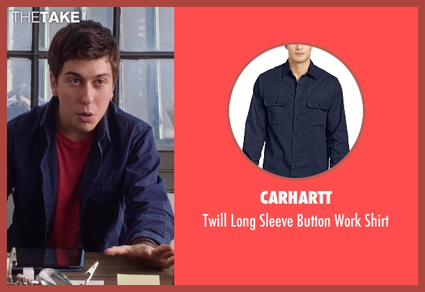 Carhartt blue shirt from The Intern seen with Nat Wolff (Unknown Character)