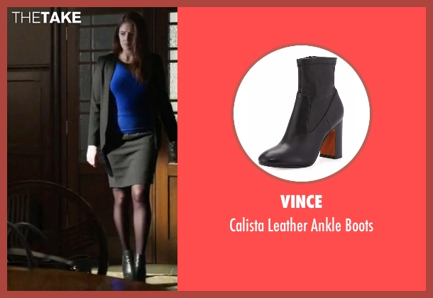Vince black boots from Guilt seen with Natalie Atwood (Emily Tremaine)