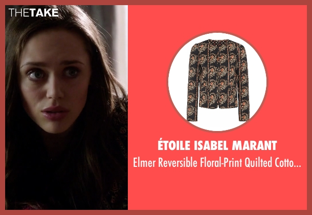 Étoile Isabel Marant black jacket from Guilt seen with Natalie Atwood (Daisy Head)