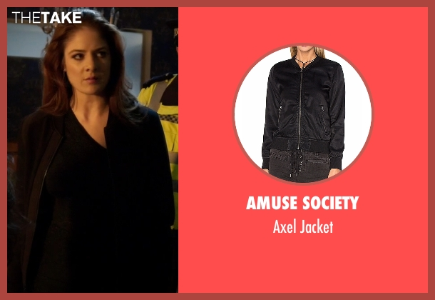 Amuse Society black jacket from Guilt seen with Natalie Atwood (Emily Tremaine)