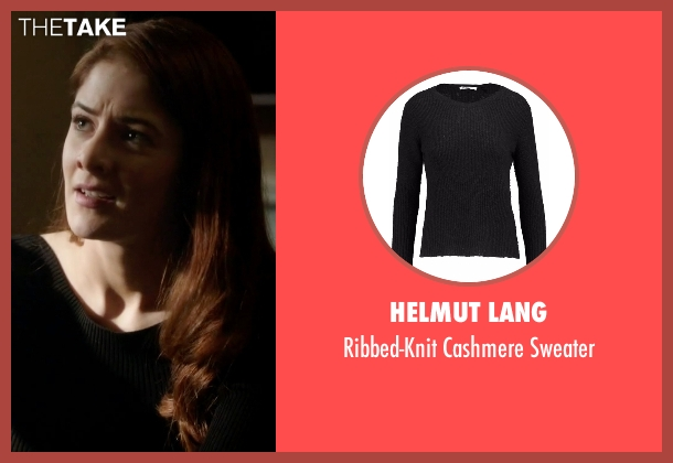 Helmut Lang black sweater from Guilt seen with Natalie Atwood (Emily Tremaine)