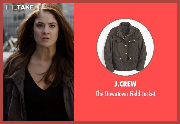 J.Crew brown jacket from Guilt seen with Natalie Atwood (Emily Tremaine)