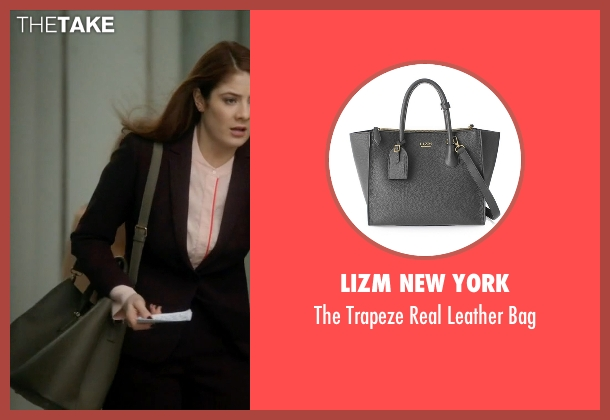 Lizm New York gray bag from Guilt seen with Natalie Atwood (Emily Tremaine)