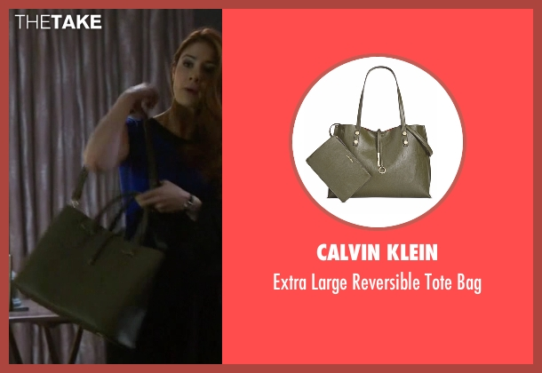 Calvin Klein green bag from Guilt seen with Natalie Atwood (Emily Tremaine)