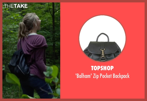 Topshop black backpack from The Forest seen with Natalie Dormer (Sara)